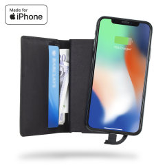 Designed with premium genuine leather, including slots to hold 6 cards and cash - this portable MFi charging wallet can comfortably fit inside your pocket while featuring a built-in 1800mAh power bank - so you can charge your iPhone on the move.