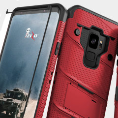 Zizo Bolt Series Samsung Galaxy S9 Tough Case Hülle & Gürtelclip - Rot