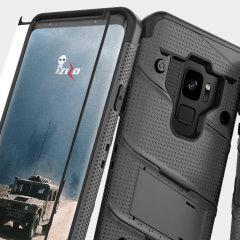 Zizo Bolt Series Samsung Galaxy S9 Deksel & belteklemme – Grå