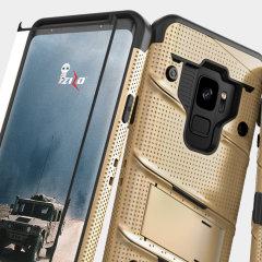Zizo Bolt Series Samsung Galaxy S9 Deksel & belteklemme – Gull