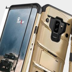 Zizo Bolt Series Samsung Galaxy S9 Plus Deksel & belteklemme – Gull
