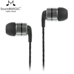 Enjoy your music in studio-level quality with the SoundMAGIC E80 In-Ear Headphones in Gunmetal. These premium headphones feauture a 2-part aluminium earphone construction and superior sound thanks to the featured HD transducers and updated drivers.