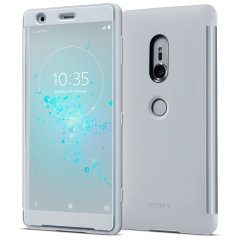 Original Sony Xperia XZ2 Style Tasche Touch Case in Grau