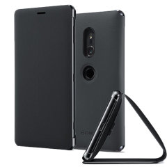 Original Sony Xperia XZ2 Style Cover Stand Tasche in Schwarz