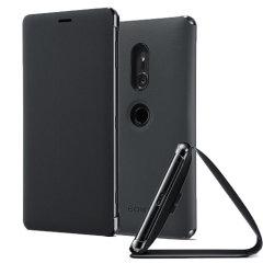 Original Sony Xperia XZ2 Style Cover Stand Tasche in Schwarz