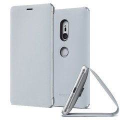 This high quality official SCSH40 bi-fold folio case from Sony houses your Xperia XZ2 smartphone, providing protection and access to your ports and features while incorporating a built-in viewing stand - in grey.