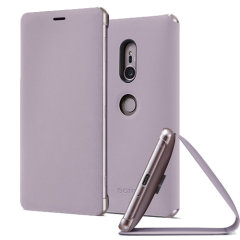 This high quality official SCSH40 bi-fold folio case from Sony houses your Xperia XZ2 smartphone, providing protection and access to your ports and features while incorporating a built-in viewing stand - in pink.