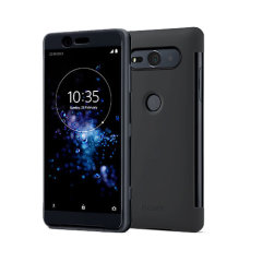 Original Sony Xperia XZ2 Compact Style Tasche Touch Case in Schwarz