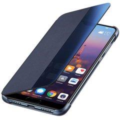 Original Huawei P20 Smart View Flip Case Tasche in blau