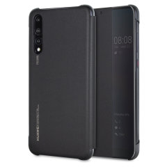 Original Huawei P20 Pro Smart View Flip Case Tasche in Schwarz