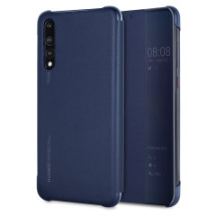 Original Huawei P20 Pro Smart View Flip Case Tasche in blau