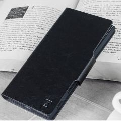 The Olixar leather-style Sony Xperia XZ2 Compact Wallet Stand Case in black provides enclosed protection and can also be used to hold your credit cards. The case also transforms into a viewing stand for added convenience.