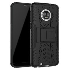 Protect your Motorola Moto G6 from bumps and scrapes with this black ArmourDillo case. Comprised of an inner TPU case and an outer impact-resistant exoskeleton, the Armourdillo not only offers sturdy and robust protection, but also a sleek modern styling.