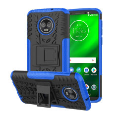 Protect your Motorola Moto G6 from bumps and scrapes with this blue ArmourDillo case. Comprised of an inner TPU case and an outer impact-resistant exoskeleton, the Armourdillo not only offers sturdy and robust protection, but also a sleek modern styling.