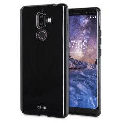 Olixar FlexiShield Nokia 7 Gel Hülle - Tiefes Schwarz