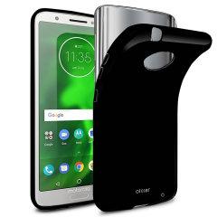 Olixar FlexiShield Motorola Moto G6 Plus Gel Case - Solid Black