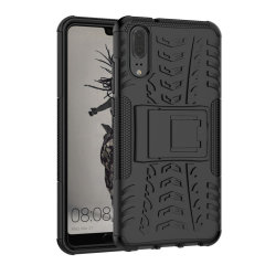 Protect your Huawei P20 from bumps and scrapes with this black ArmourDillo case. Comprised of an inner TPU case and outer impact-resistant exoskeleton, the Armourdillo not only offers sturdy and robust protection, but also a sleek modern styling.