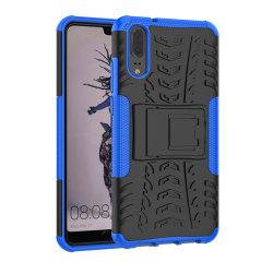 Protégez votre Huawei P20 des chocs et des éraflures grâce à cette coque Olixar ArmourDillo en coloris bleu. Cette coque est composée d'un boîtier interne en TPU et d'un exosquelette externe résistant aux impacts. Elle comprend par ailleurs un support de visualisation intégré.