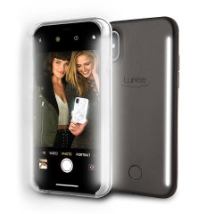 LuMee Duo iPhone X Double-Sided Lighting Case - Black