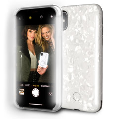 LuMee have further developed the smartphone photography game with the Duo - Double Sided Lighting Case in pearl white for iPhone X. With front and rear LED lighting, you'll now be able to capture the perfect photo with either your front or back camera.