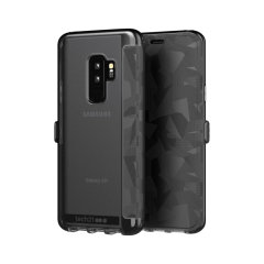 The Evo Wallet case by Tech21 carefully surrounds your Galaxy S9 Plus with a slim-fitting see-through back case and a tactile, abstract-patterned folio cover. Evo Wallet case comes with 2 concealed slots for your debit, credit or personal ID cards.