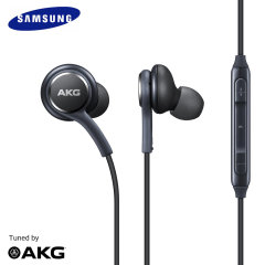 Enjoy your music with this official pair of Samsung Galaxy S9 Tuned By AKG In-Ear Stereo Earphones. With a built-in remote, These replacement Samsung Galaxy S9 earphones fit snugly within the ear for premium comfort and sound.