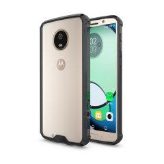 Olixar ExoShield Tough Snap-on Motorola Moto G6 Case - Black / Clear