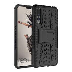 Beskyt din Huawei P20 Pro mod stød og ridser med dette sorte ArmourDillo-etui fra Olixar. Bestående af et indvendig TPU-etui og et ydre slagfast cover med indbygget display.