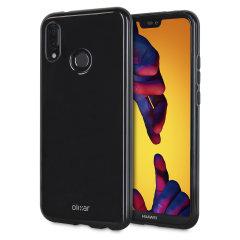 Olixar FlexiShield Huawei P20 Lite Gel Hülle in Tiefes Schwarz