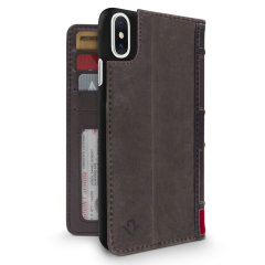 Twelve South BookBook iPhone X Leather Wallet Case - Brown