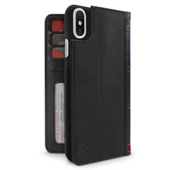 Twelve South BookBook iPhone X Leather Wallet Case - Black