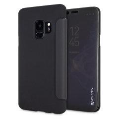 4smarts Kyoto Interactive Samsung Galaxy S9 Flip Case - Black / Clear