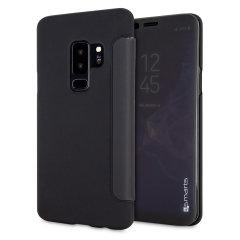 4smarts Kyoto Interactive Samsung Galaxy S9 Plus Flip Case - Black