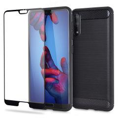 Olixar Sentinel Huawei P20 Hülle und Glas Displayschutz