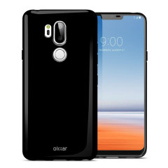 Olixar FlexiShield LG G7 Gel Case - Solid Black
