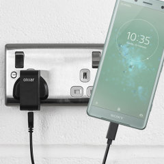 Charge your Sony Xperia XZ2 Compact and any other USB device quickly and conveniently with this compatible 2.4A high power USB-C UK charging kit. Featuring a UK wall adapter and USB-C cable.