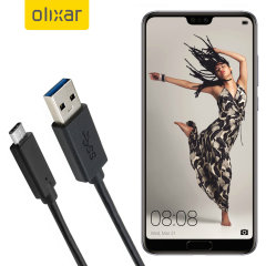 Zorg ervoor dat je Huawei P20 Pro altijd volledig is opgeladen en gesynchroniseerd met deze compatibele USB-C-kabel. U kunt deze kabel gebruiken met een USB-wandlader of via uw desktop of laptop.