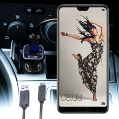 Laden Sie Ihr Micro-USB-Gerät unterwegs auf, mit diesem Hochleistungs 2.4A Huawei P20 Pro Kfz-Ladegerät mit ausziehbarem Spiralkabel-Design