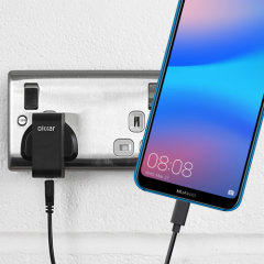 Charge your Huawei P20 Lite and any other USB device quickly and conveniently with this compatible 2.4A high power USB-C UK charging kit. Featuring a UK wall adapter and USB-C cable.