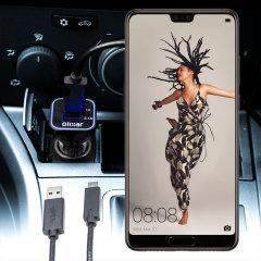 Laden Sie Ihr Micro-USB-Gerät unterwegs auf, mit diesem Hochleistungs 2.4A Huawei P20 Kfz-Ladegerät mit ausziehbarem Spiralkabel-Design