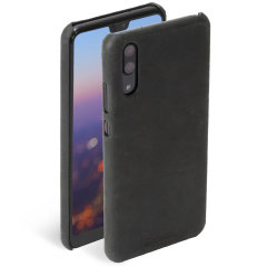Krusell Sunne Huawei P20 Leather Case - Vintage Black