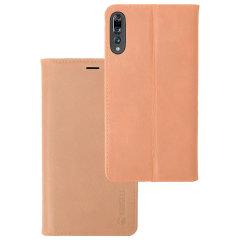 Krusell Sunne 4 Card Huawei P20 Pro Folio Wallet Case - Nude