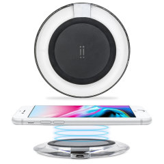 Aiino iPhone 8 Plus Wireless Charging Pad - Black / Clear