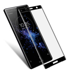 This ultra-thin tempered glass full cover screen protector for the Sony Xperia XZ2 Compact from Olixar with black front offers toughness, high visibility and sensitivity all in one package.