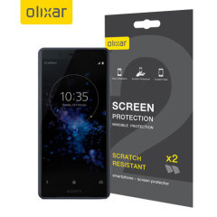 Keep your Sony Xperia XZ2 Compact's screen in pristine condition with this Olixar scratch-resistant screen protector 2-in-1 pack.