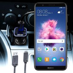 Laden Sie Ihr Micro-USB-Gerät unterwegs auf, mit diesem Hochleistungs 2.4A Huawei P Smart Kfz-Ladegerät mit ausziehbarem Spiralkabel-Design
