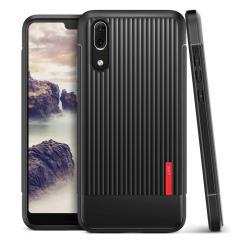 Bescherm uw Huawei P20 met deze nauwkeurig ontworpen en duurzame hoes van VRS Design. Gemaakt van stevig, maar toch flexibel eersteklas materiaal, deze zwarte polycarbonaat hardshell heeft een slank ontwerp met precieze uitsparingen voor de poorten van je telefoon.