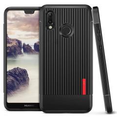 Bescherm uw Huawei P20 Lite met deze nauwkeurig ontworpen en duurzame hoes van VRS Design. Gemaakt van stevig, maar toch flexibel eersteklas materiaal, deze zwarte polycarbonaat hardshell heeft een slank ontwerp met precieze uitsparingen voor de poorten van je telefoon.