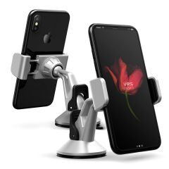 Place your phone or other device on the car windscreen or dashboard with the stylish Verus Hybrid Grab Mini in-car mount in silver. A secure fit, universal compatibility and fully posable positioning means this is a complete mounting solution.