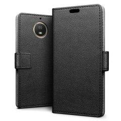 Motorola Moto G5S Leather-Style Wallet Case - Black